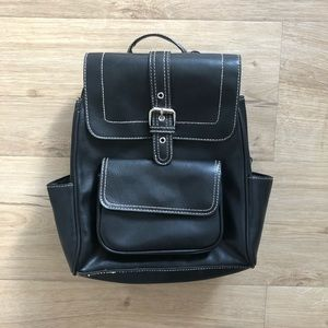 Vintage Black Backpack